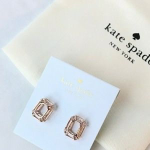 BNWT Rose Gold Kate Spade Earrings!